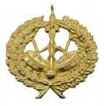 Trommelabzeichen 35,6mm - Farbe - gold