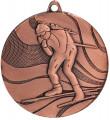 """Medaille """"Ski"""" Ø 50mm mit Band - Farbe - Bronze"""