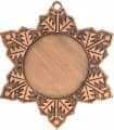 """Medaille """"Schneeflocke"""" Ø 50mm mit Band - Farbe - Bronze"""