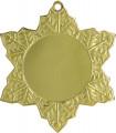 """Medaille """"Schneeflocke"""" Ø 50mm mit Band - Farbe - Gold"""