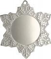 """Medaille """"Schneeflocke"""" Ø 50mm mit Band - Farbe - Silber"""