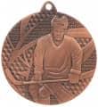 """Medaille """"Eishockey"""" Ø 50mm mit Band - Farbe - Bronze"""