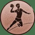 Emblem 25mm Handball Werfer, bronze