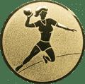 Emblem 25mm Handball Werferin, gold