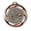 """Medaille """"Karate"""" Ø 40mm mit Band - Farbe - Bronze"""