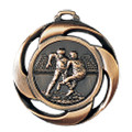 "Medaille ""Football"" Ø 40mm mit Band - Farbe - Bronze"