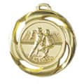 "Medaille ""Football"" Ø 40mm mit Band - Farbe - Gold"