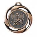 """Medaille """"Tennis"""" Ø 40mm mit Band - Farbe - Bronze"""