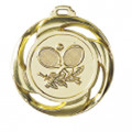 "Medaille ""Tennis"" Ø 40mm mit Band - Farbe - Gold"