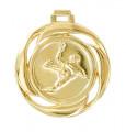 "Medaille ""Handball"" Ø 40mm mit Band - Farbe - Gold"