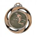 "Medaille ""Wandern"" - Farbe - bronze"