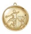 "Medaille ""Handball"" Ø 65mm gold mit Band"