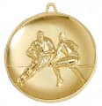 "Medaille ""Football"" Ø 65mm gold mit Band"
