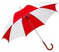 Regenschirm Automatik - Farbe - rot/weiß