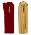 4-streifige Schulterstücke in gold - Filzfarbe - rot