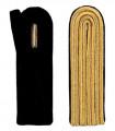 4-streifige Schulterstücke in gold - Filzfarbe - schwarz