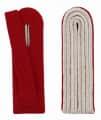 4-streifige Schulterstücke in silber - Filzfarbe - rot