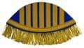 Schwalbennester mit goldenen Fransen - Farbe - blau