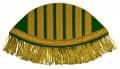 Schwalbennester mit goldenen Fransen - Farbe - grün