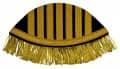 Schwalbennester mit goldenen Fransen - Farbe - schwarz