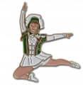 Tanzmariechen Sprung Pin - Farbe - grün-weiß