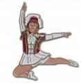 Tanzmariechen Sprung Pin - Farbe - rot-weiß