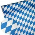 Papiertischläufer Raute wetterfest - Farbe - blau-weiß