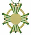 """Karnevalsorden """"Stern"""" - Farbe - grün-weiß"""