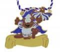 """Karnevalsorden """"Katze"""" - Farbe - blau-weiß"""
