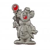 Clown mit Ballon 3D geprägt altsilber