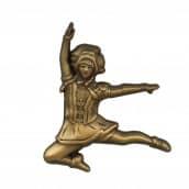 Tanzmariechen Sprung Pin 3D gegossen altgold
