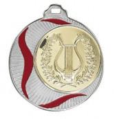 """Medaille """"Akragas"""" Ø 70mm mit Wunschemblem und Band silber"""