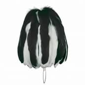 Federbusch schwarz-weiß mixed mit 90 oder 120 Bahnen