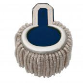 Epauletten silber (ein Paar) mit Raupen silber-blau