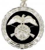 Medaille silber/schwarz