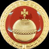 Auflage Reichsapfel rot