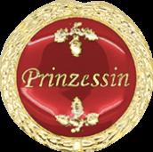 Auflage mit Prinzessinschriftzug rot