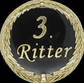 Auflage mit 3. Ritterschriftzug schwarz