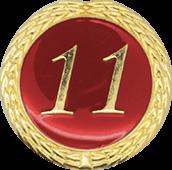 Auflage mit Schriftzug 11 Jahre rot