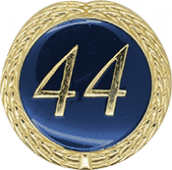 Auflage mit Schriftzug 44 Jahre blau