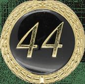 Auflage mit Schriftzug 44 Jahre schwarz