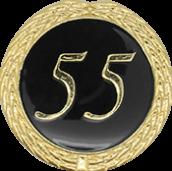 Auflage mit Schriftzug 55 Jahre schwarz
