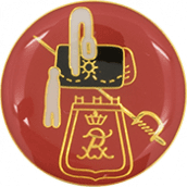 Auflage Hut mit Tasche und Säbel rot