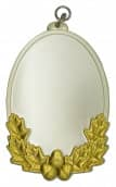 Königsschild 8 silber/gold
