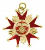 Schützenorden Stern gold/rot