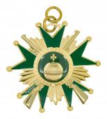 Schützenorden Stern mit Gewehren gold/grün