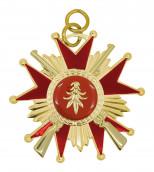 Schützenorden Stern mit Gewehren gold/rot