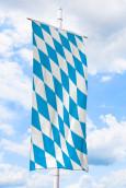 Bayern1bannerfahne Bayernfahnen Bayern-Bannerfahne ohne Wappen (Raute)