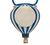 Karnevalsorden - Luftballon blau-weiß