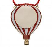 Karnevalsorden - Luftballon rot-weiß